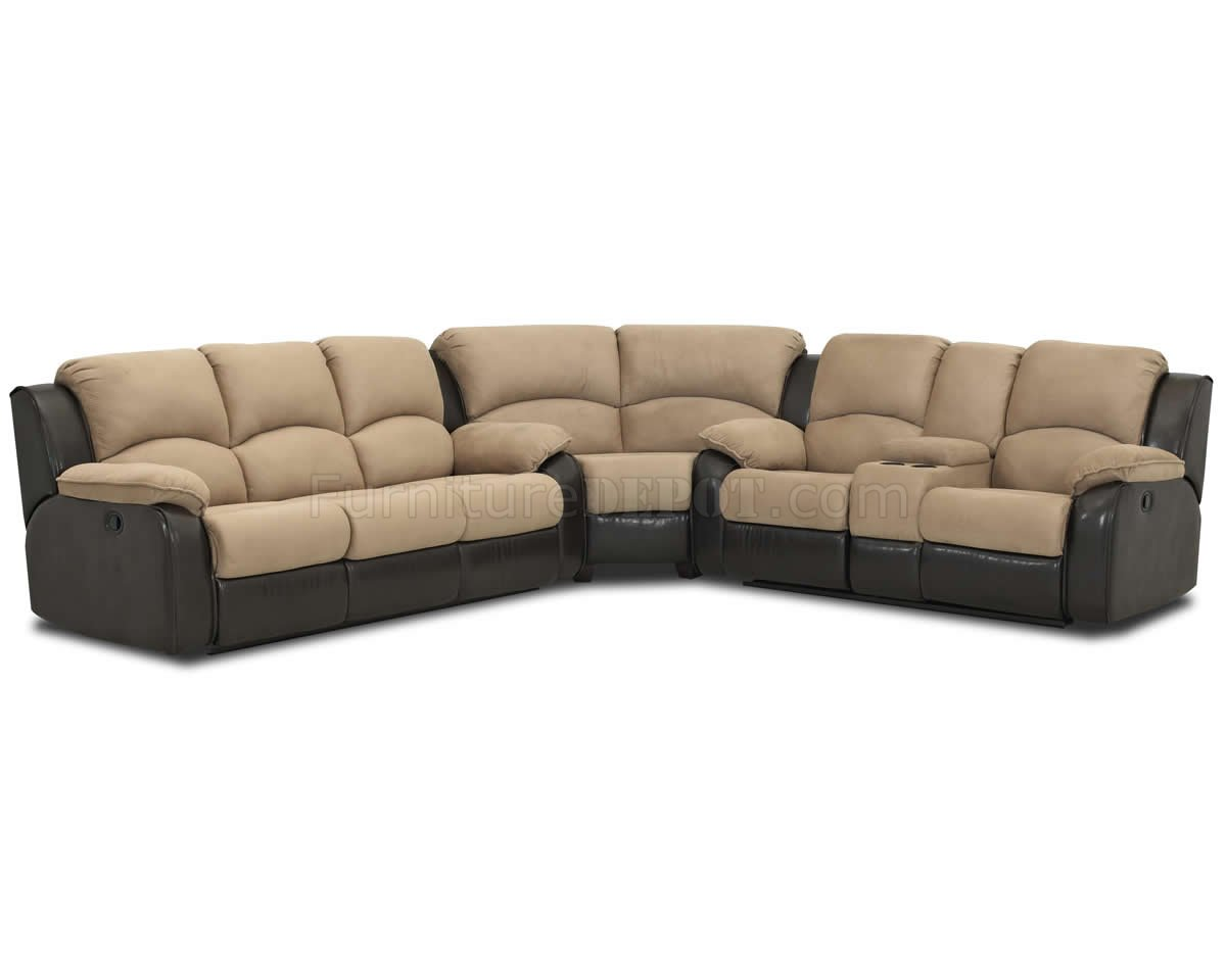 reclinable sectional sofas sectionals for sale two tone hot chocolate fabric reclining sofa