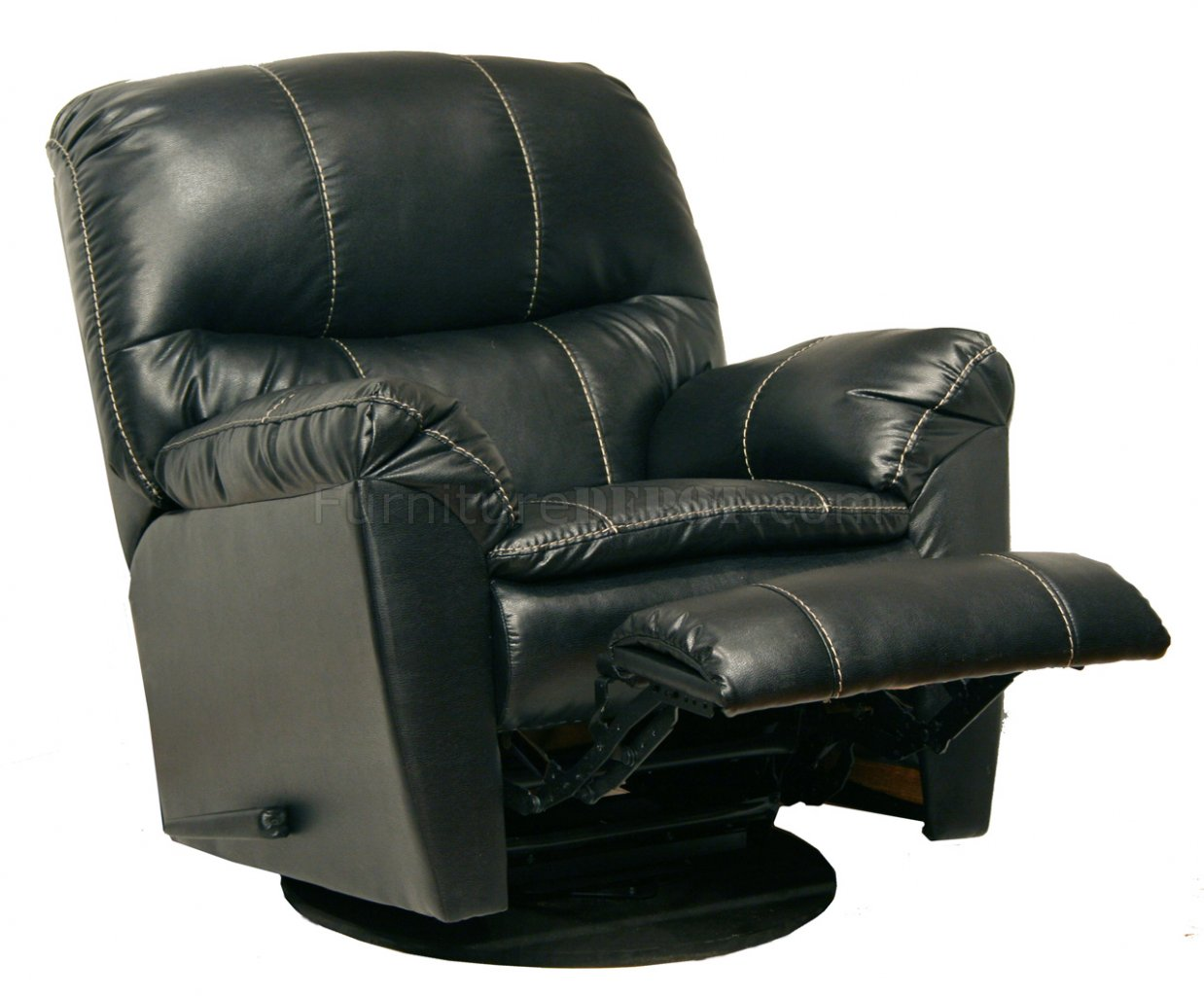 modern black leather recliner chair cordaroys bean bag chairs touch cosmo swivel glider