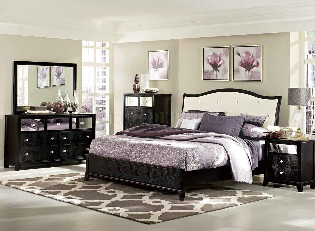 jacqueline bedroom 2299 in black by homelegance w/options