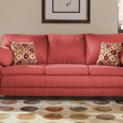 Suede Living Room Furniture Wood Vinyl Flooring In Burgundy Micro Contemporary Sofa W Options