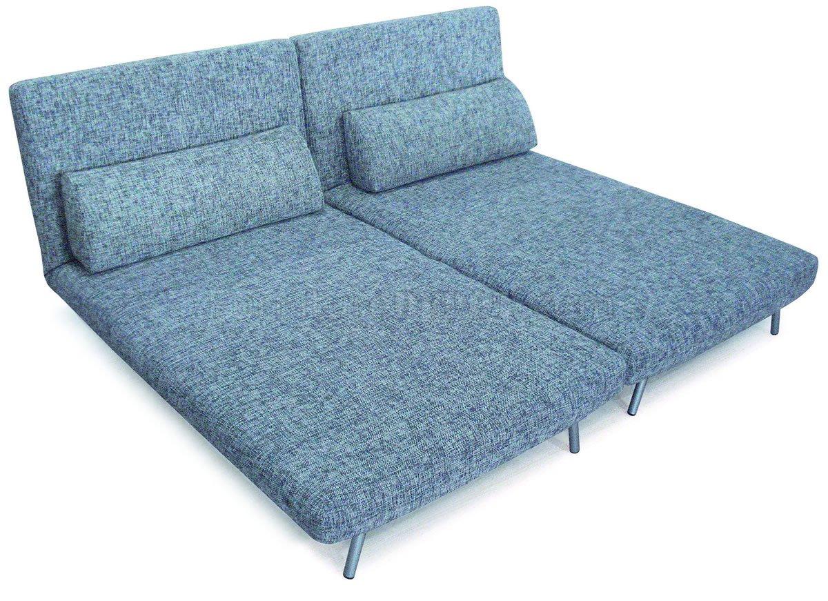 grey modern sofa bed single chairs fabric convertible w metal legs