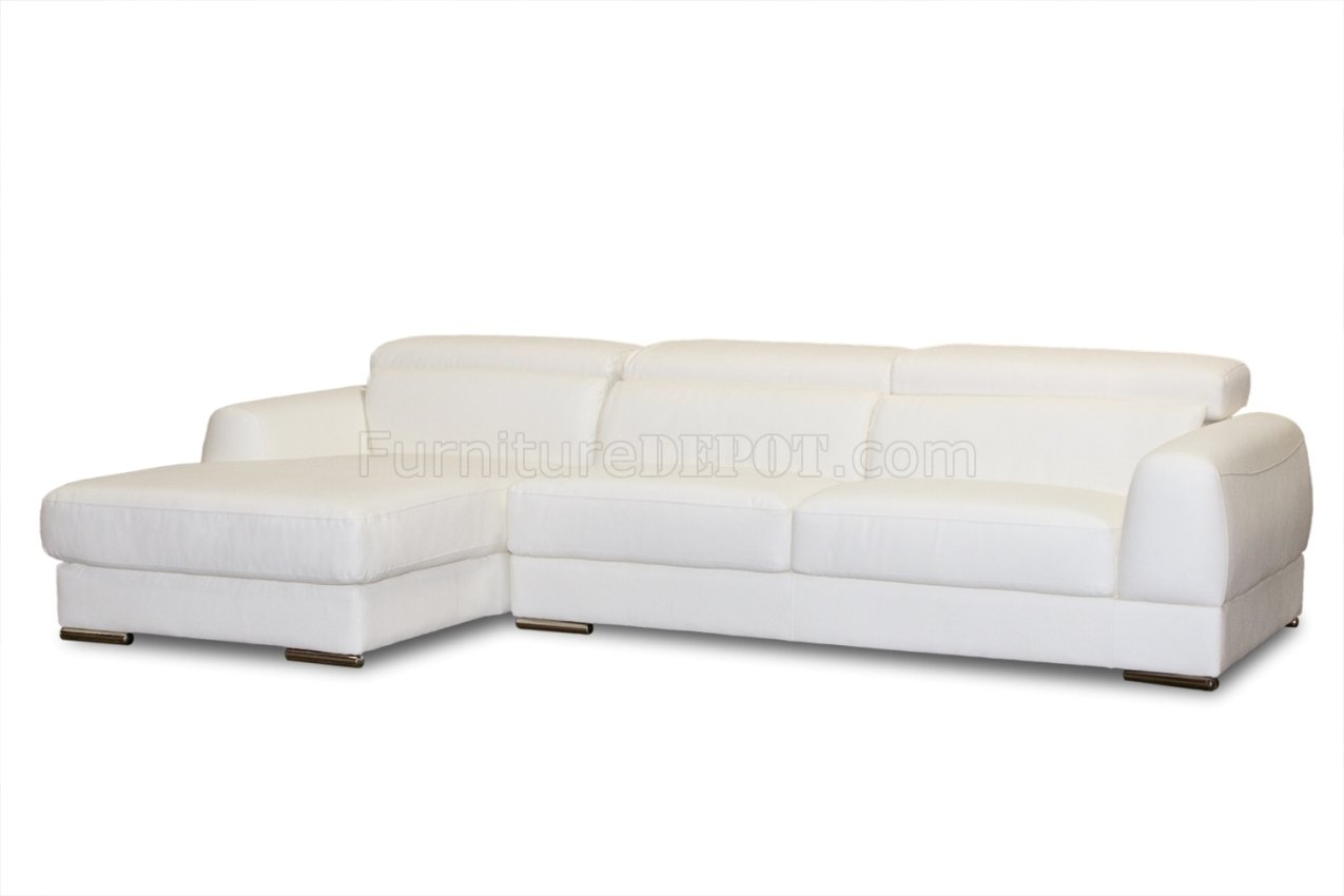 leather sectional sofa chicago second hand bed redditch white bonded modern
