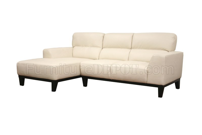 cream leather contemporary l shaped