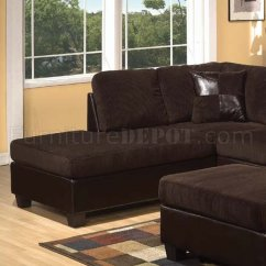 Acme Sectional Sofa Chocolate Design Ideas For Covers 55975 Connell In Espresso By