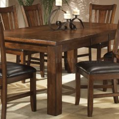 Dark Kitchen Table Old Fashioned Stool With Steps Oak Finish Casual Dining W Optional Chairs