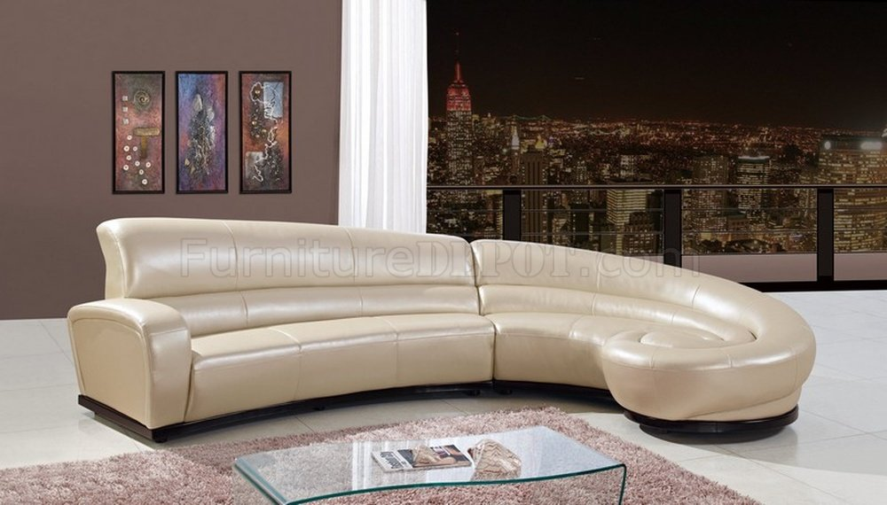 u958 sectional sofa in pearl bonded