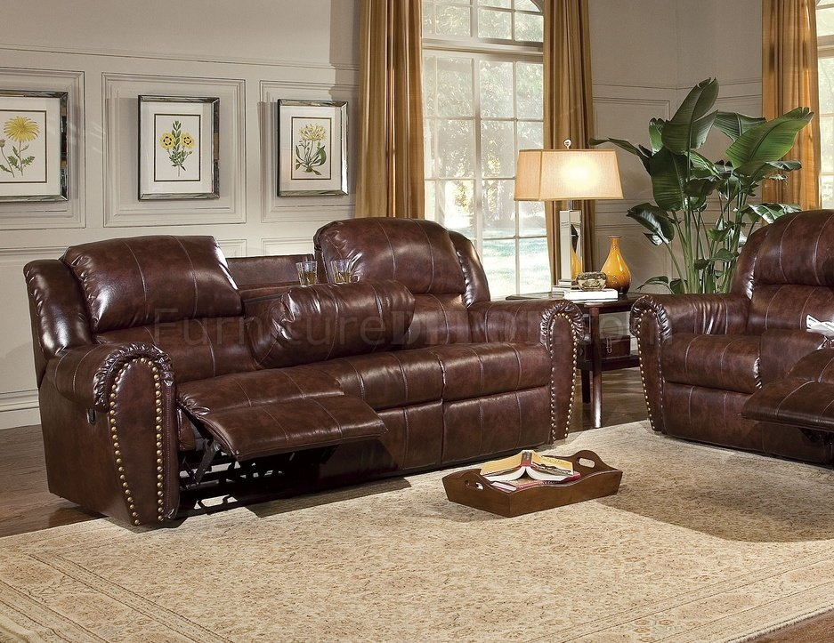 recliner club chair vintage step stool cognac brown bonded leather sofa & set w/reclining seats