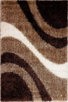 Modern M6006 BeigeBrown Area Rug