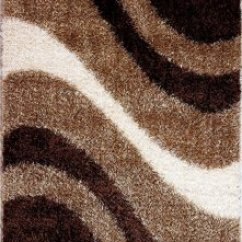 Brown Leather And Fabric Sectional Sofa Rattan Set Cover Modern M6006 Beige-brown Area Rug