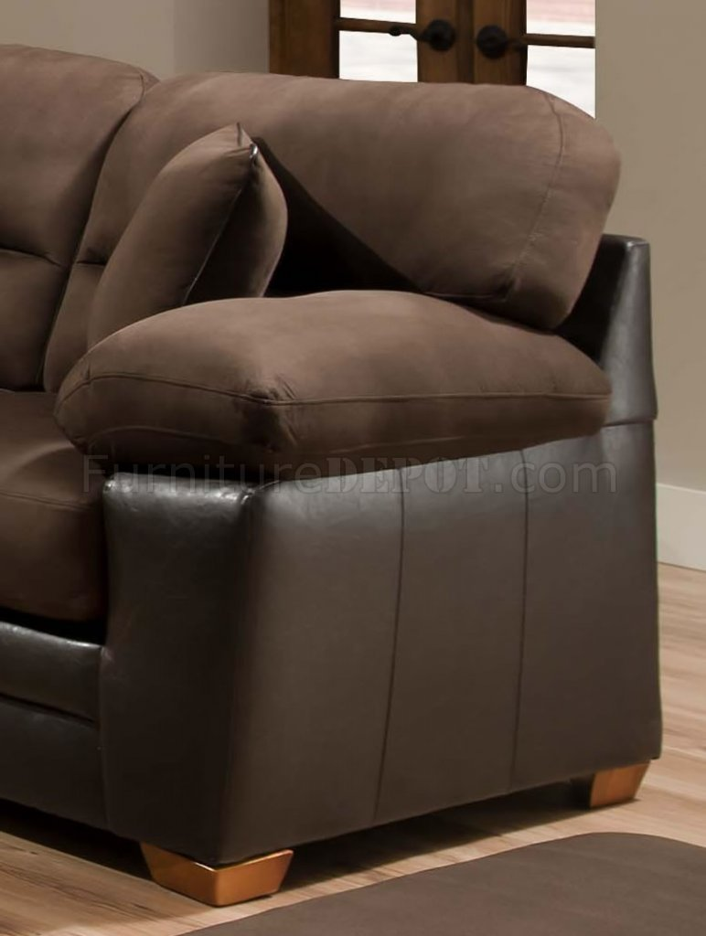 Couch Leather Set Brown