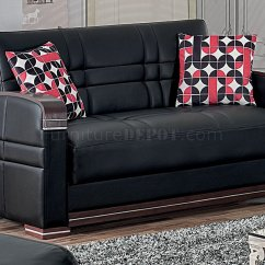 Leatherette Sofa Durability Small Sectional For Apartment Toronto Bronx Bed In Black W Optional Loveseat
