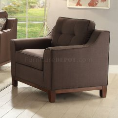 Acme Sectional Sofa Chocolate Ikea Grey Cover Stellan Fabric 52840 In Brown Linen By W Options