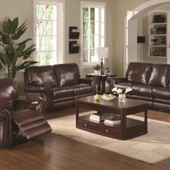 Recliner Sofa Set 3 2 1 How To Install Cover Modern Burgundy Leather Reclining & Loveseat