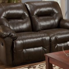 Modern Bonded Leather Sectional Sofa With Recliners Seat Cushion Covers Only Uk Brown Double Reclining