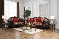 Brown And Burgundy Living Room - [peenmedia.com]