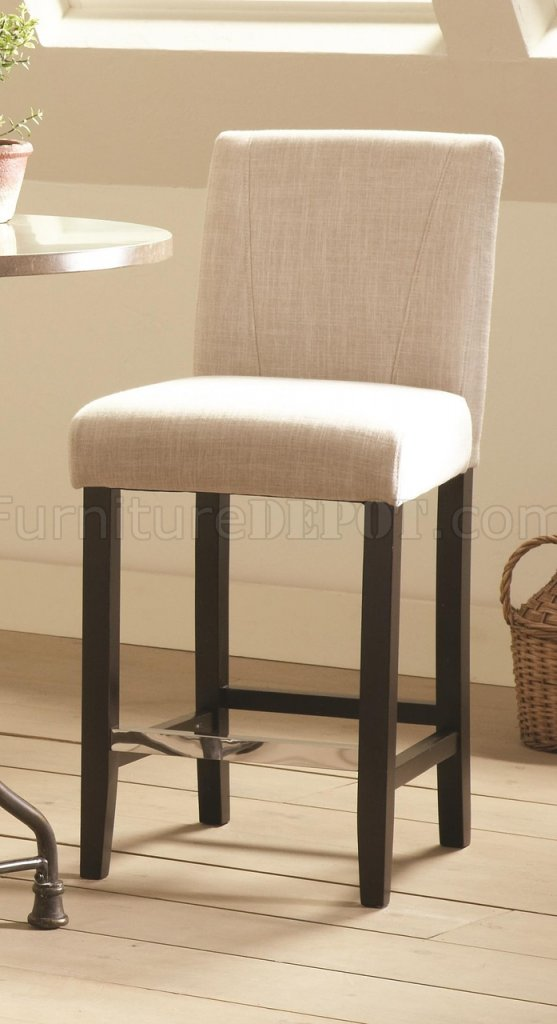 130063 Counter Height Chair Set Of 4 In Ivory Fabric By Coaster