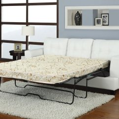 Sleeper Sofa Leather White Oversized Table Bonded Modern W Queen Size