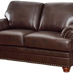 Coaster Leather Sofa Reviews 3 Piece Set Covers Colton 504411 In Brown Bonded By W