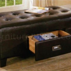 Convertible Sofa Beds New York Leather Brown Set Espresso By-cast Finish Modern Ottoman W/drawer