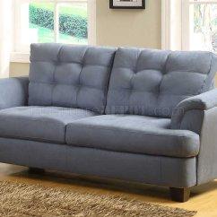 Light Gray Leather Sofa Set Esstisch Modern St. Charles 9736 - Homelegance Blue Grey Fabric W ...