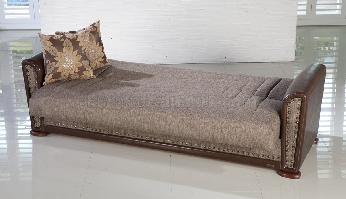 stretch morgan 1 piece sofa furniture cover sofas for under 1000 alfa redeyef convertible bed in brown fabric by istikbal leatherette
