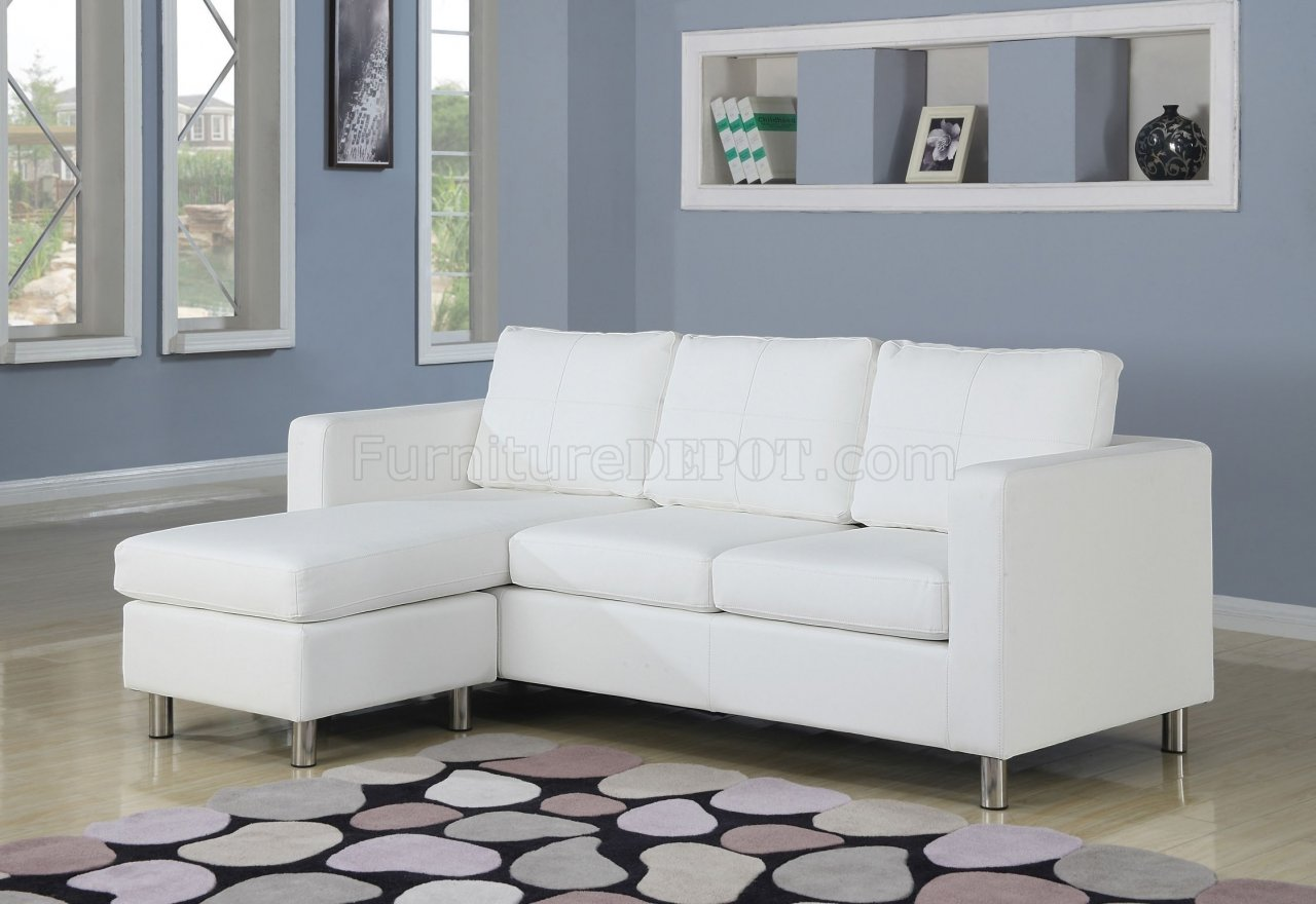 Small White Sectional Sofa