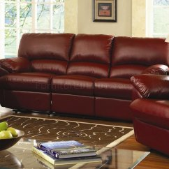 Modern Bonded Leather Sectional Sofa With Recliners Sofas Com Almofadas Coloridas Reclining Livng Room U641 Burgundy