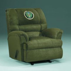 Swivel Club Chair Recliner Humanscale Liberty Review Hunter Fabric Modern Rocker W/us Army Emblem