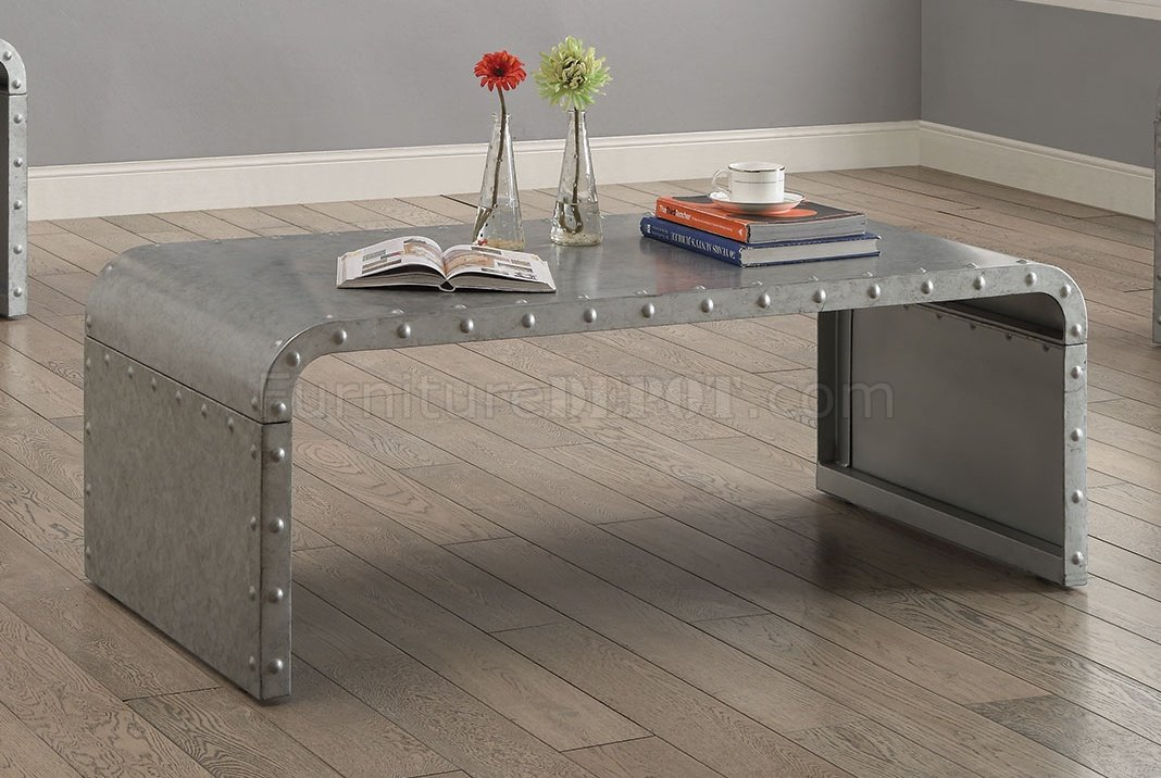 design of wood sofa set large click clack bed 704348 coffee table in galvanized metal by coaster w/options