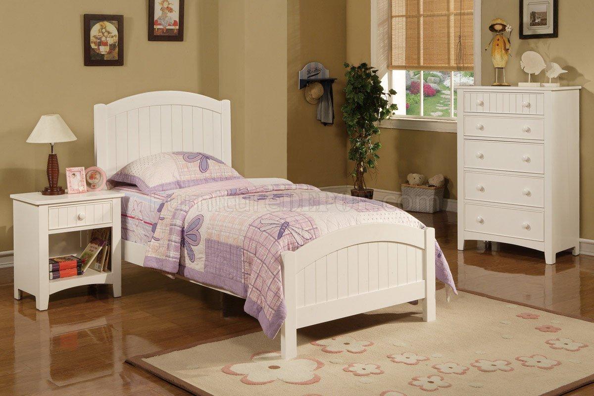 F9049 Kids Twin 3Pc Bedroom Set in White by Boss wOptions