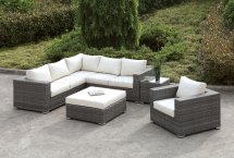 Somani Cm-os2128-10 Outdoor Patio L-shaped Sectional Sofa Set