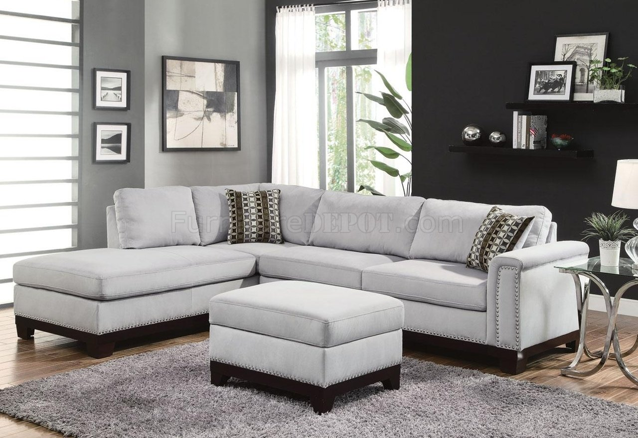 Mason Sectional Sofa 503615 in Blue Grey Fabric by Coaster