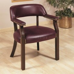 Commercial Sofas And Chairs Patio Tables Burgundy Vinyl Classic Office Chair W Nailhead Trim