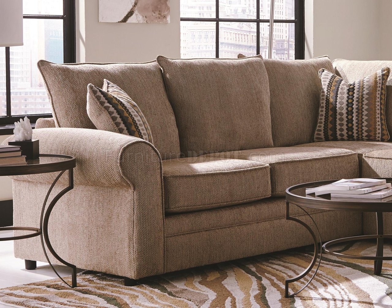 cream sectional sofa fabric ikea bed mattress fairhaven 501149 in by coaster
