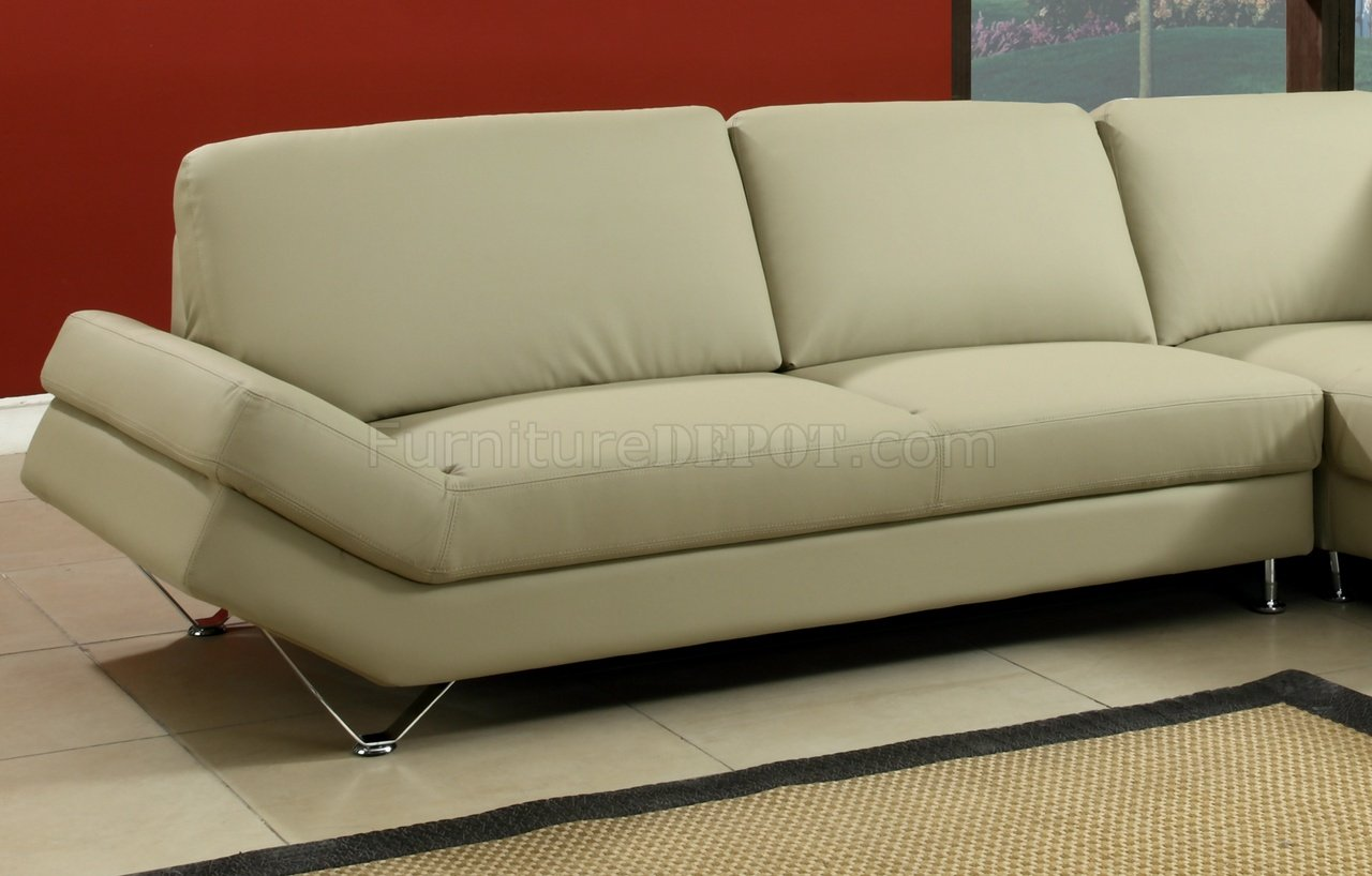 taupe color leather sofa sets for 5000 full bonded modern sectional w metal legs