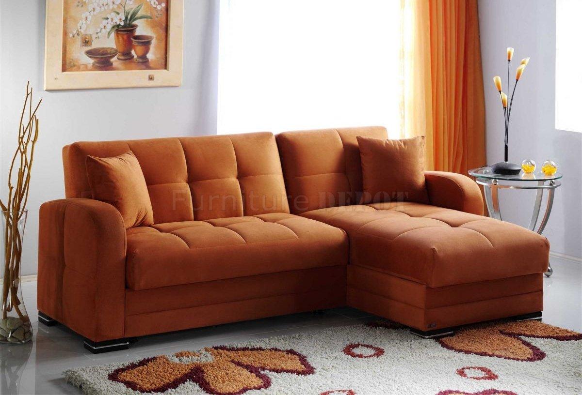 orange fabric sectional sofa cane set online in india kubo bed rainbow by sunset