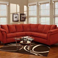 Red Modern Sectional Sofa Harrison Sofascore Fabric Elegant