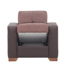 Brown Microfiber Sofa Bed Chenille Fabric Oversized Sectional With Matching Ottoman Lego In By Rain W Optional Items