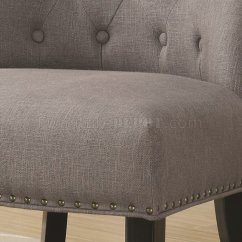 Gray Accent Chairs Set Of 2 Cosco High Chair 902923 In Grey Fabric By Coaster