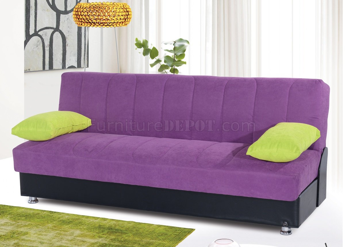 leons sofa beds best wooden sofas in bangalore leon bed convertible purple microfiber by rain