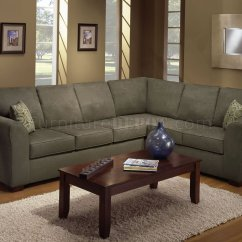 Olive Green Sofa Living Room Ideas Suede Cleaning S Microfiber Casual Modern Sectional With Wooden Legs