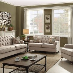 Beige Sofa Set Macys Sectional Bed Alianza 52580 In Fabric By Acme W Options