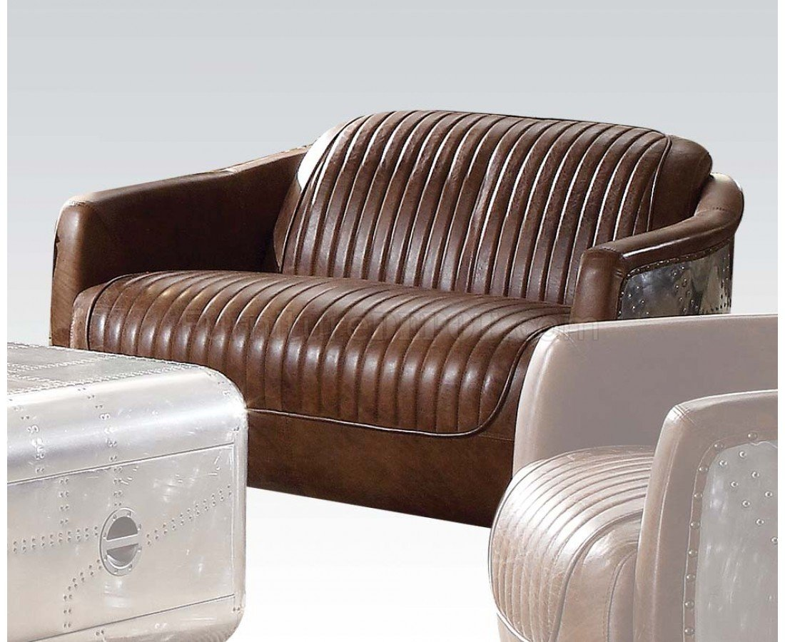 acme sectional sofa chocolate queen bed brancaster 53545 in brown leather by w options