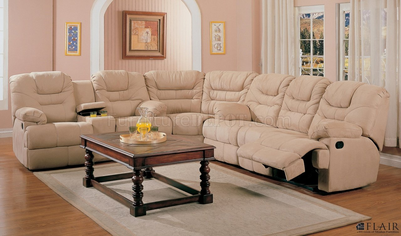leather sectional sofa chicago sleeper with storage chaise beige saddle fabric stylish modern reclining