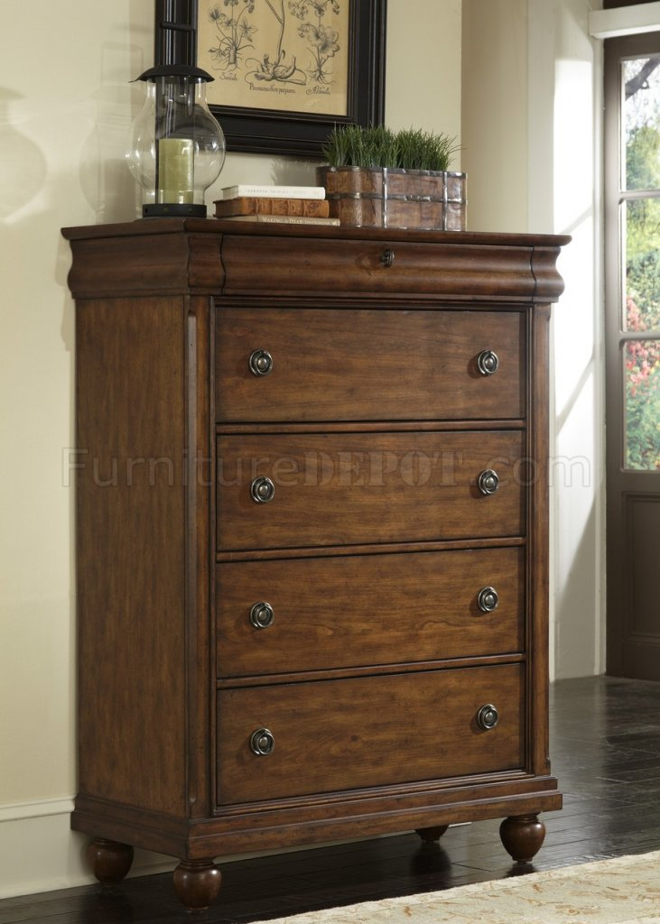 Rustic Traditions Bedroom 5Pc Set 589BR in Rustic Cherry Finish