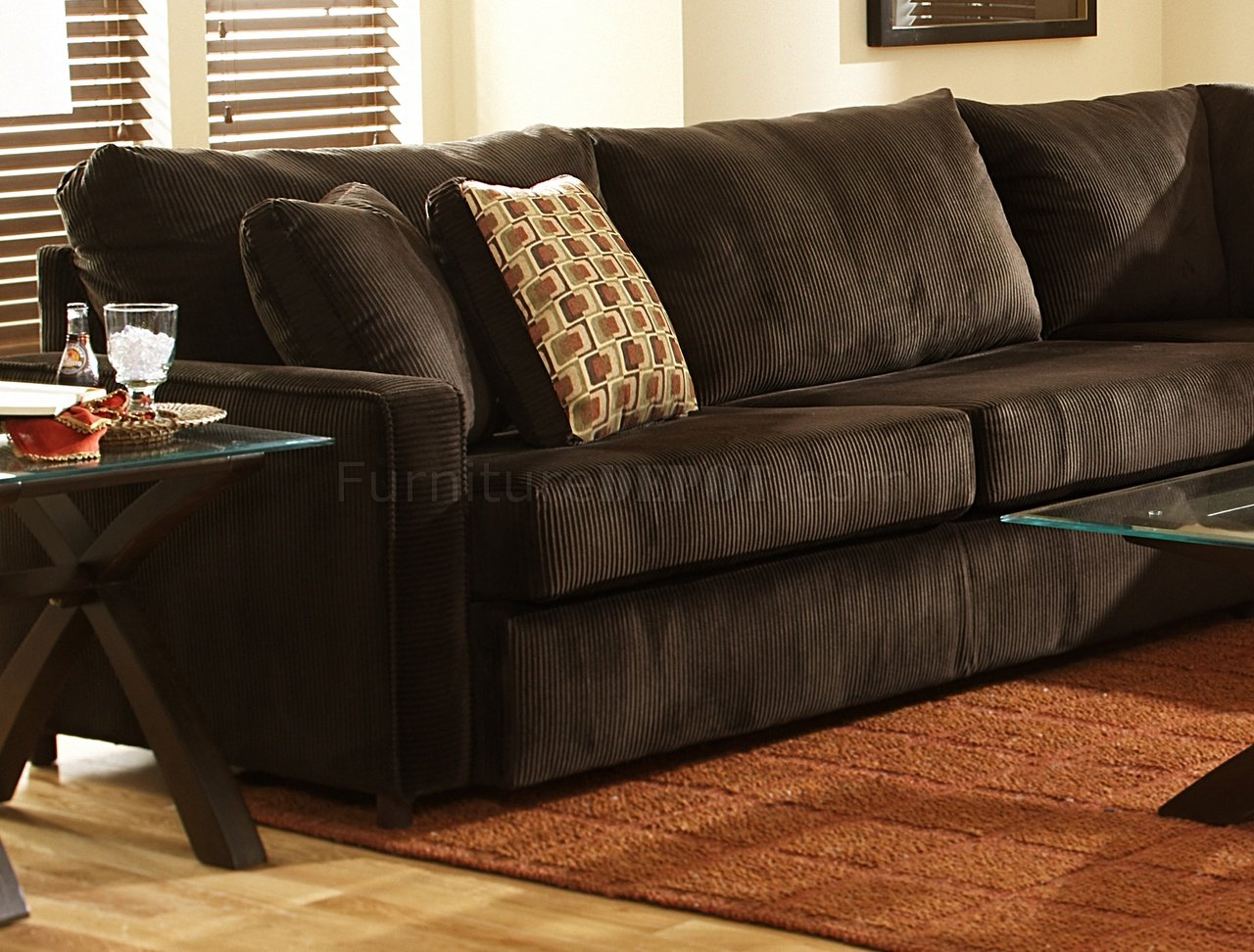 sofa back pillows extra large dog bed uk viva chocolate fabric modern sectional w