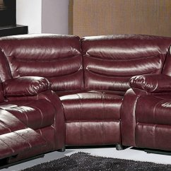 Sectional Sofas With Recliners Leather Sofa Washable Covers Gramercy 644 Motion In Burgundy Bonded