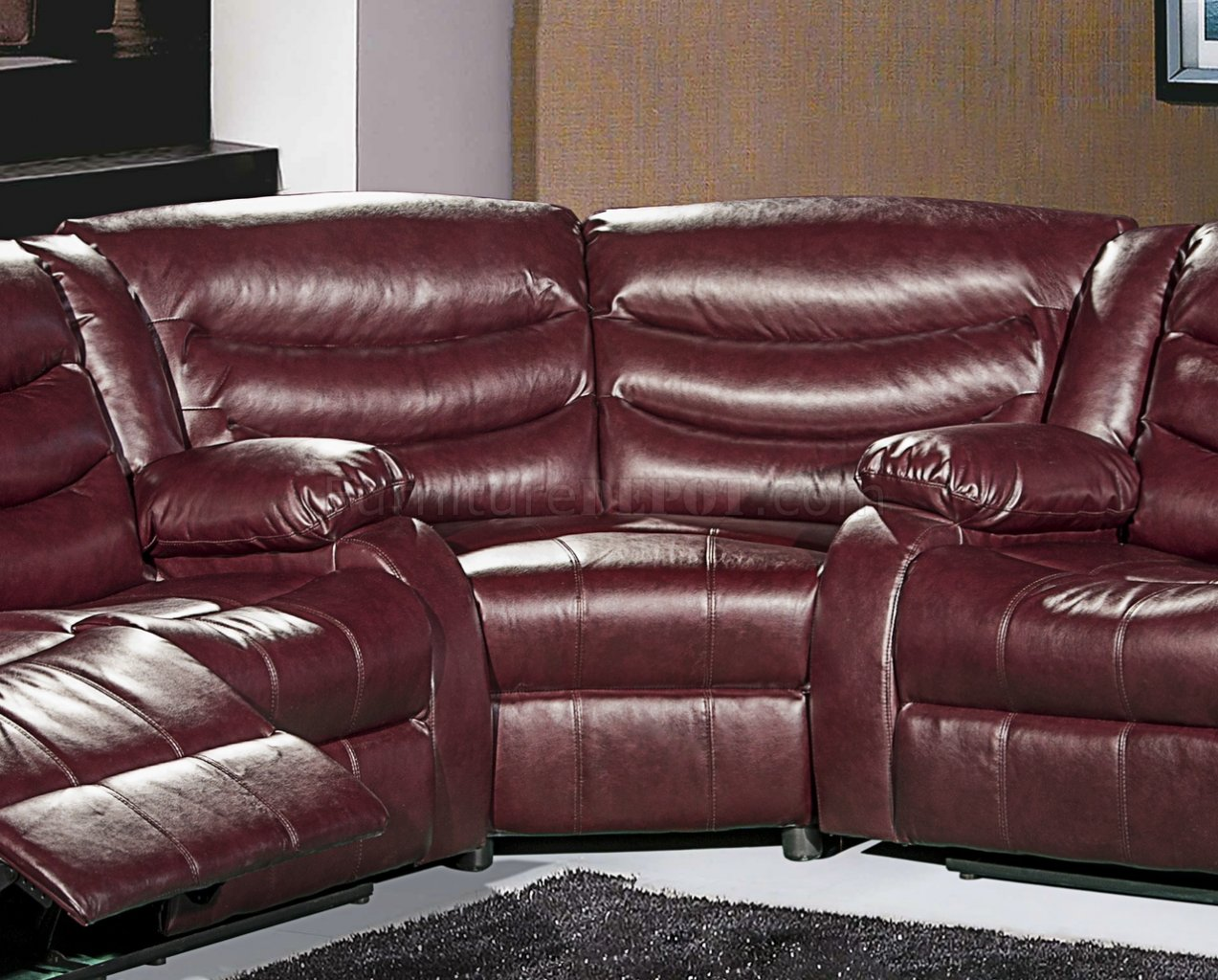 quality leather sofa beds crate and barrel gramercy 644 motion sectional in burgundy bonded