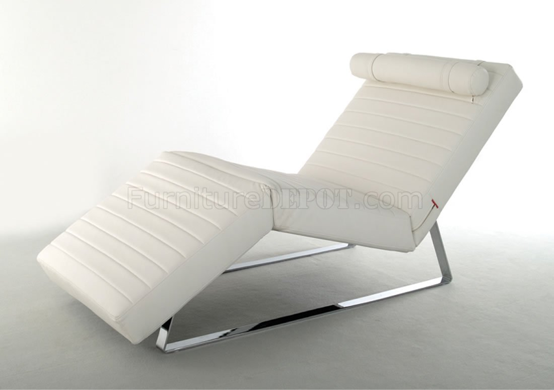 chair headrest pillow parsons faux leather chairs classic white contemporary chase lounger w