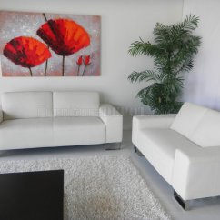 White Leather Sofa And Loveseat Set Wooden Corner Designs Modern W Optional Items